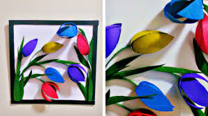 Tissue Paper Flower Wall Art From Tissue Paper Roll To 3d Wall Decor Easy Diy Flower Wall Decor
