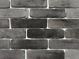 black brick wall old graphite brick feature wall tile