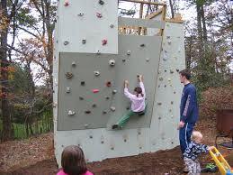 the final backyard climbing wall