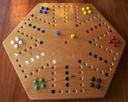 Marble Game With Wooden Board
