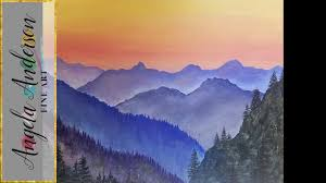 simple mountain landscape acrylic painting tutorial live beginner lesson free