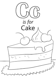 Small Picture Letter C is for Cake coloring page Free Printable Coloring Pages