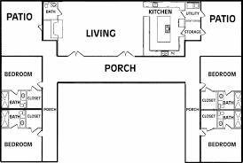 U Shaped House Plans Single Level   thorbecke co    Oct       U Shaped House Plans Single Level   U shaped House Plan With Courtyard
