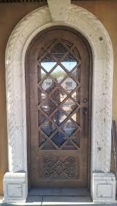 old world bronze metal entry door