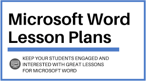 Ms Word Lesson Plans Microsoft Word Lesson Plans And Activities To Wow Your Students