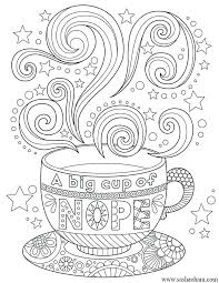 Coffee Coloring Page Tea Cups Pages Colouring Qnrfsubmission