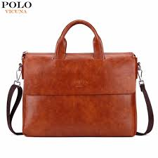 vicuna polo new arrival fashion business man bag bright color mens leather briefcase for 14 laptop leather portfolio for men dc travel service