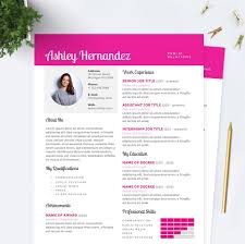Bright Pink Resume Cover Letter References Template Package