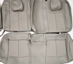 fits 2016 2017 nissan leaf s sv factory gray leather upholstery seat cover set