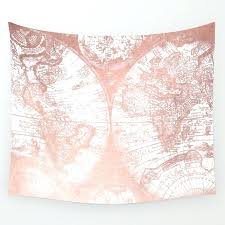 map wall tapestries rose gold pink antique world map by nature wall tapestry blue world map wall tapestry