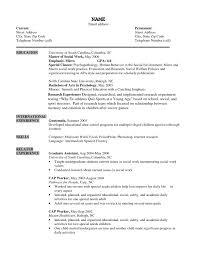 Sample Resume For Social Work Graduate School Save Social Worker