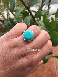 sterling silver turquoise ring natural turquoise handmade gift ideas