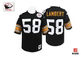 Black Steelers Jerseys Jersey Sale 58 Throwback - Lambert Authentic Men's Home Football Jack Pittsburgh