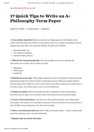 quick tips to write an a philosophy term paper quickessaywr