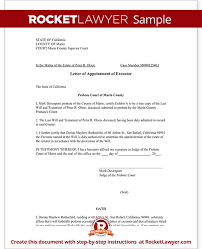 Appointment Letters In Doc Cool Letter Of Appointment Of Executor Template With Sample Will And