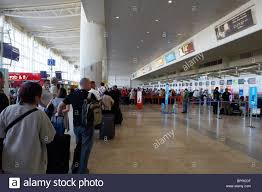 Check in desk at John Lennon Liverpool Airport Stock Photo ...