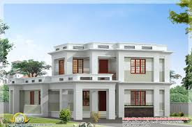 Flat Roof Modern Home Design Kerala House Plans Including - Modern house plan interior design