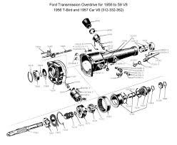 flathead parts drawings transmissions overdrive for 1957 62 ford six and v8 272 292