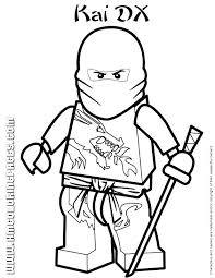 Lego Coloring Sheets Coloring Pages Ninja The Red In Colouring Lego