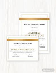 Printable Awards And Certificates 48 Printable Award Certificate Templates Word Psd Ai