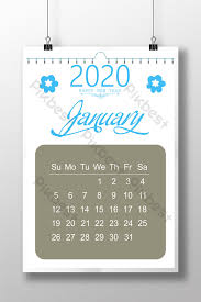 Photoshop Calendar Template 2020 Calendar Design 2020 Template Psd Free Download Pikbest
