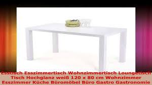 Saulentisch 120x80 Ausziehbar Esstisch Weiss Volgan In Weia Glas
