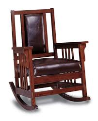 wood leather rocking chair upholstered wooden rocker glider seat antique value cbe114a413725e3a89a69e1ad8a
