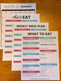Weekly Meal Planning For One Meal Planning Template To Save Money Eat Healthy And Plan