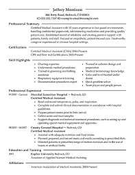 16 Free Medical Assistant Resume Templates Sample Objective 10878