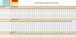 Vacation And Sick Time Tracking Spreadsheet 9 Employee Vacation Tracker Templates Excel Templates