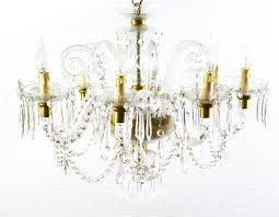 this is a stunning vintage pair of crystal chandeliers in stunning venetian style each with