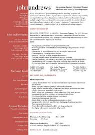 Operations Manager Resume Sample Business Operations Manager Resume Examples Cv Templates Samples