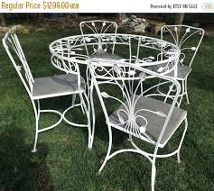 vintage wrought iron table.  Vintage Vintage Wrought Iron Garden Furniture Table 4 Chairs  Sale Outdoor And E