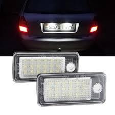 Audi A3 Led License Plate Lights Amazon Com Audi A4 License Plate Light Kit Nslumo Led