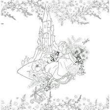 Disney Girls Coloring Book ぬり絵で楽しむディズニーガールズとお花