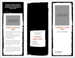 026 Word Brochure Template Ideas Microsoft Top Pamphlet Real