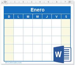 Calendario Word 2019 Gratis Plantillas En Blanco Y Para Imprimir