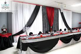 white wedding decorations red