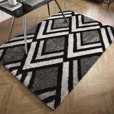 bijoux black and grey living room rugs