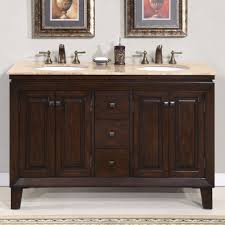 Double Bathroom Sink Cabinet 55 Jessica Bathroom Vanity Double Sink Cabinet English Chestnut