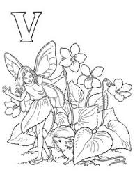 Small Picture Download and Print letter z for zinnia flower fairy coloring page