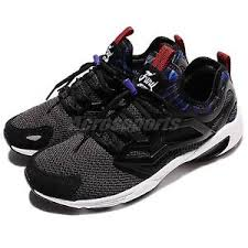 reebok mens running shoes. image is loading reebok-fury-adapt-ar-black-blue-red-men- reebok mens running shoes