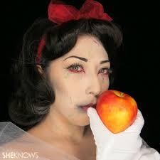 snow white zombie makeup