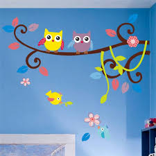 owl tree wall decal stickers diy waterproof 5 designs