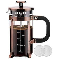 French press is more swirling and dumping the old grounds in the trash/off the porch. Veken French Press Coffee 12 Oz 304 Grade Stainless Steel Tea Maker With 4 Filter Screens Durable Easy Clean Heat Resistant Borosilicate Glass 100 Bpa Free Copper Walmart Com Walmart Com