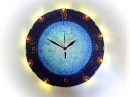 time travel wall clock with light time