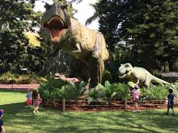 when you arrive you are given a map to show where you can find all the dinosaurs have a pen in your bag and get the kids to tick off the