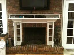 gas fireplace ideas with tv above home bar