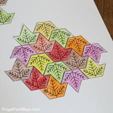Cool Tessellations Designs Leaf Tessellation Collaborative Stem Art Project Frugal