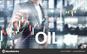 Oilu Stock Chart Oil Trend Up Crude Oil Price Stock Exchange Trading Up